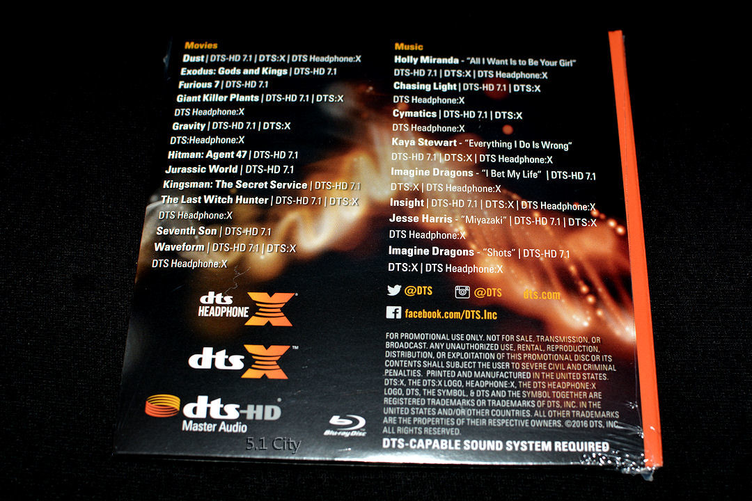 Details about New! DTS X, HD-MA Master Audio 7 1 Demo #20 Genuine Blu Ray  Disc CES 2016 Sealed